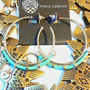 NWT VINCE CAMUTO SILVER HOOP EARRINGS